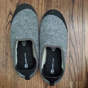 Mahabis Slippers and Sole Covers in Gray/Black